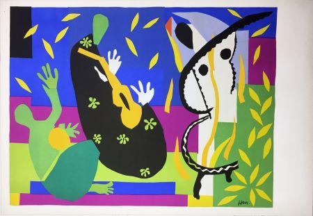 Litografia Matisse - LA TRISTESSE DU ROI. Lithographie sur Arches 1952 (tirage original édité par Tériade)