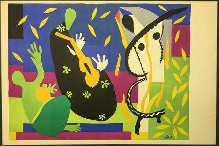 Litografia Matisse - LA TRISTESSE DU ROI. Lithographie sur vélin 1952 (tirage original)