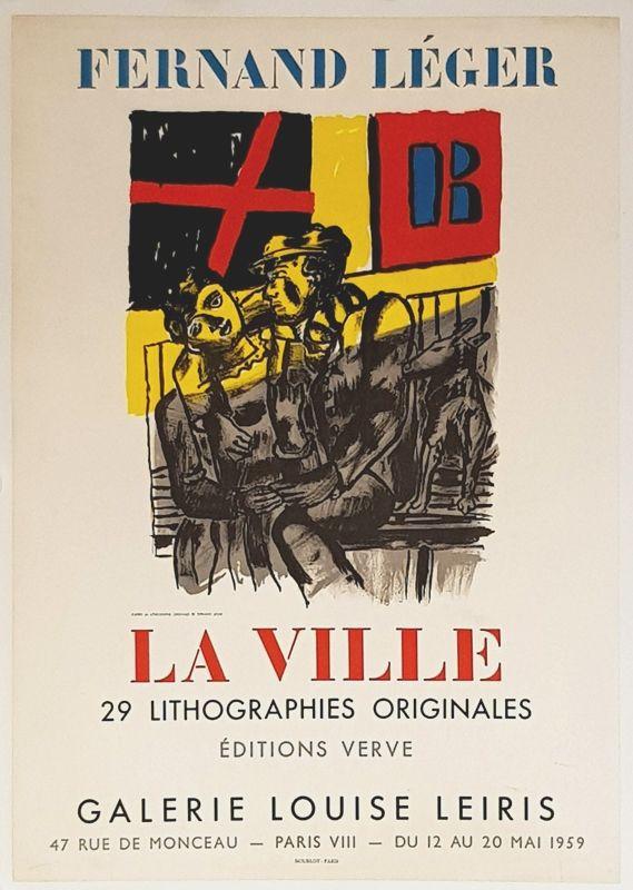 Litografia Leger - La Ville  Galerie Louise Lieris
