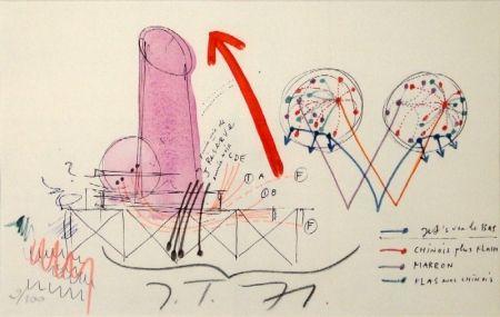 Litografia Tinguely - La Vittoria.