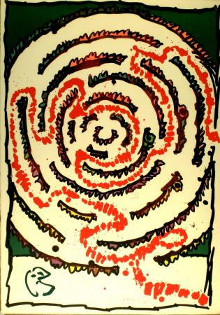 Litografia Alechinsky - Labyrinthe d'apparat V