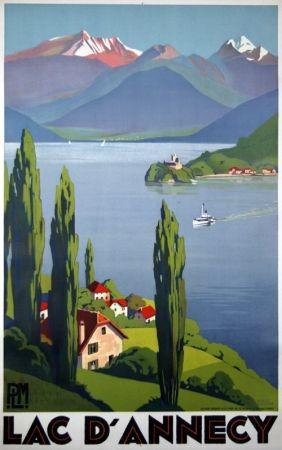Litografia Broders - Lac D'Annecy