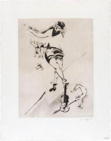 Acquaforte Chagall - L'acrobate au violon
