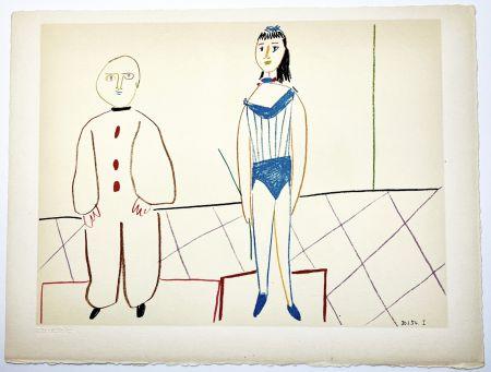 Litografia Picasso - L'Acrobate et le Clown (de La Comédie Humaine - Verve 29-30. 1954).