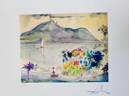 Litografia Dali - Lago di Garda