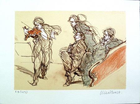 Litografia Weisbuch - L'Altiste