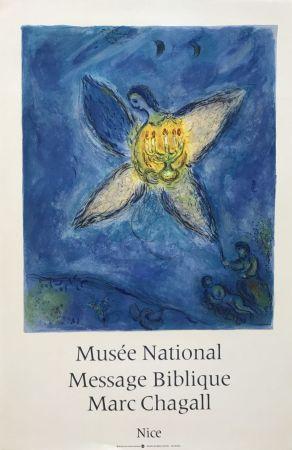 Litografia Chagall - '' L'Ange au Chandelier ''