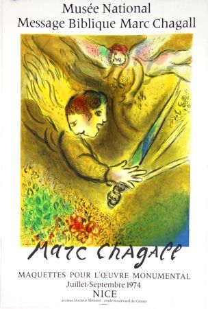 Litografia Chagall - L'Ange du Jugement  Message Biblique