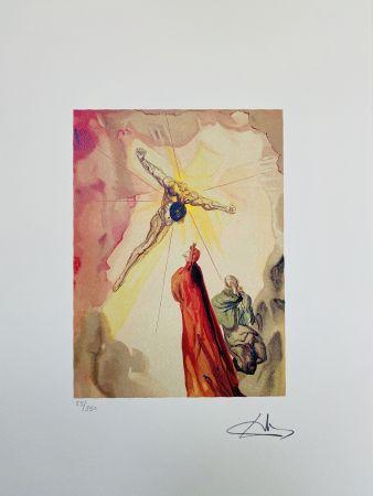 Litografia Dali - L'apparizione di Cristo
