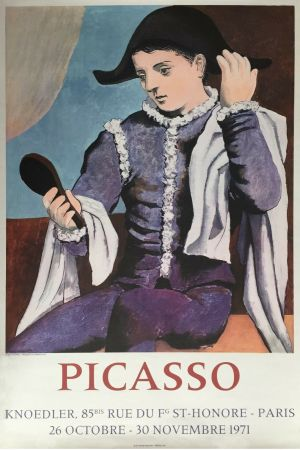 Litografia Picasso - '' L'Arlequin au Miroir ''