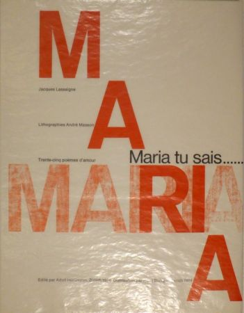 Libro Illustrato Masson - LASSAIGNE, Jacques. Maria tu sais
