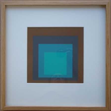 Serigrafia Albers - Late Forest - Homage to the Square