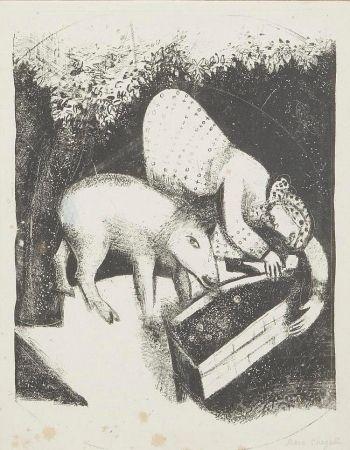 Litografia Chagall - L'auge