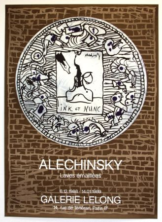 Litografia Alechinsky - Lave Emaillée  Galerie Lelong