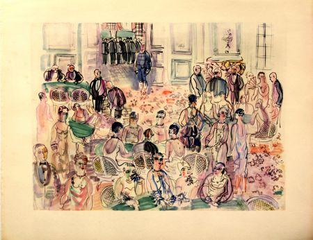Litografia Dufy - Le Baccarat  à  Deauville