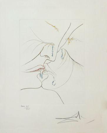 Acquaforte Dali - LE BAISER (THE KISS)