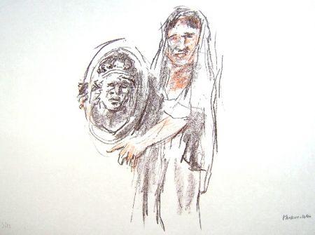Litografia Kokoschka - Le Bal Masqué