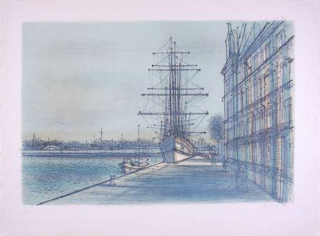 Litografia Carzou - Le Bateau école à Venise