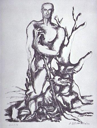 Litografia Zadkine - Le berger de Gerion