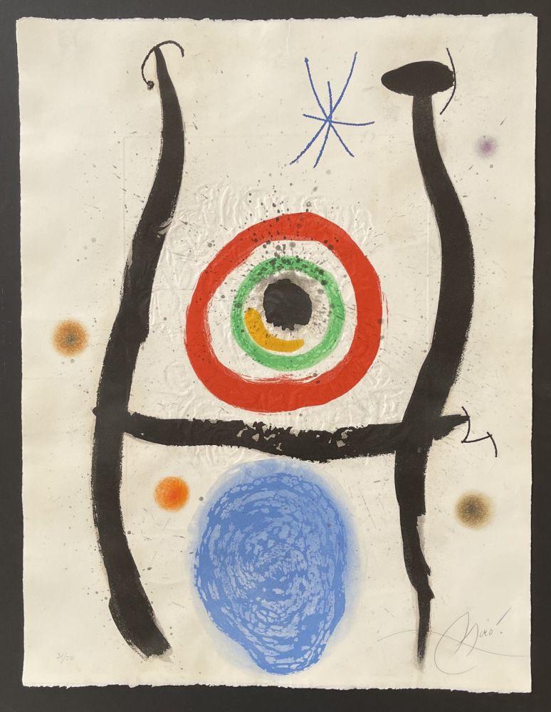 Acquaforte E Acquatinta Miró - Le Bleue de la Cible