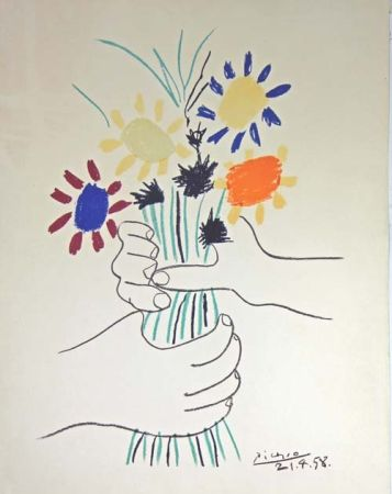Litografia Picasso - Le Bouquet