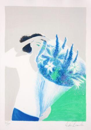 Litografia Brasilier - Le Bouquet Bleu