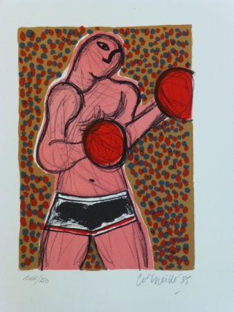 Litografia Corneille - Le boxeur