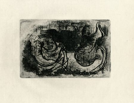 Acquaforte Fautrier - Le cadavre (Fautrier l'enragé)