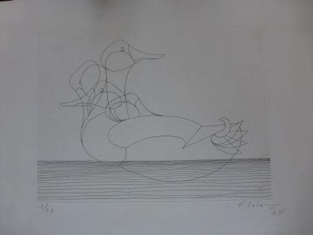 Acquaforte Lalanne - Le canard