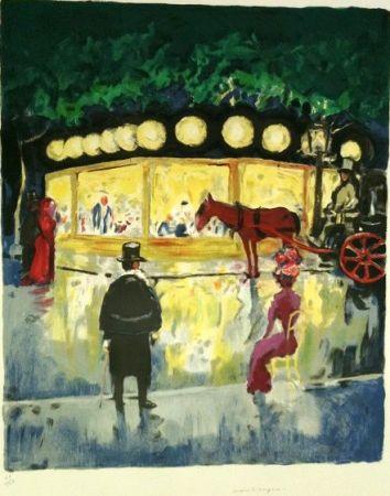 Litografia Van Dongen - Le Carrousel Au Bois De Boulogne