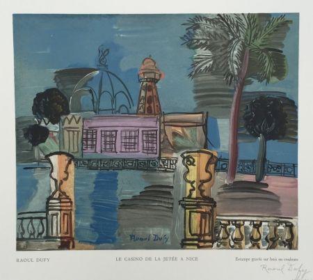 Incisione Su Legno Dufy - Le Casino de la Jetée à Nice