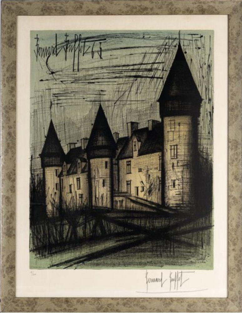 Litografia Buffet - Le château de Culan