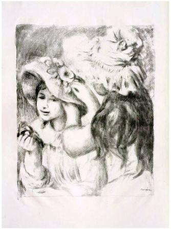 Litografia Renoir - LE CHAPEAU ÉPINGLÉ (1898). 2e planche.