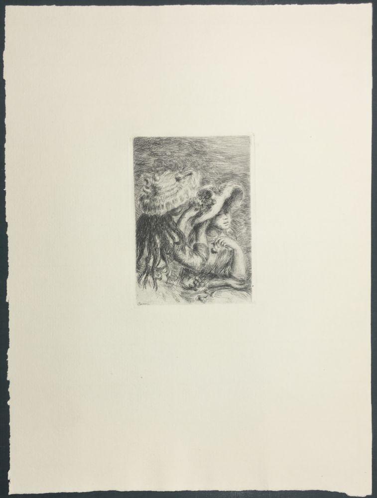 Incisione Renoir - Le Chapeau Épinglé