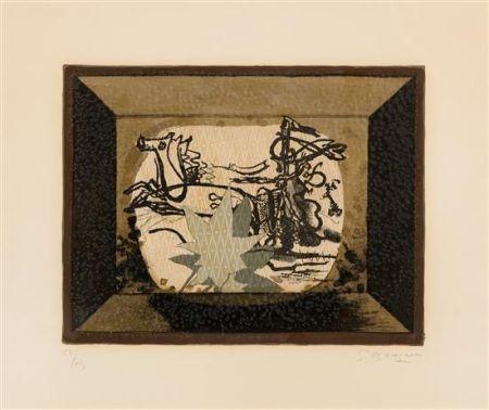 Litografia Braque - Le Char (The Chariot III)