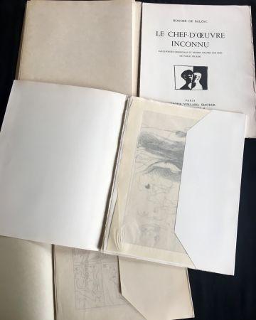 Libro Illustrato Picasso - LE CHEF-D'ŒUVRE INCONNU. Eaux-fortes originales de Pablo Picasso (exemplaire sur Japon signé avec suite. 1931).