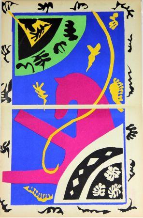 Litografia Matisse - Le Cheval L'ecuyere Et Le Clown De La Serie Jazz