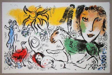 Litografia Chagall - Le cheval vert