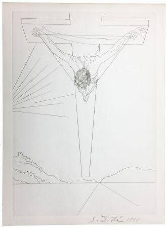 Punta Secca Dali - Le Christ de Saint-Jean de la Croix (Pointe-sèche pour le Manifeste Mystique). 1951.