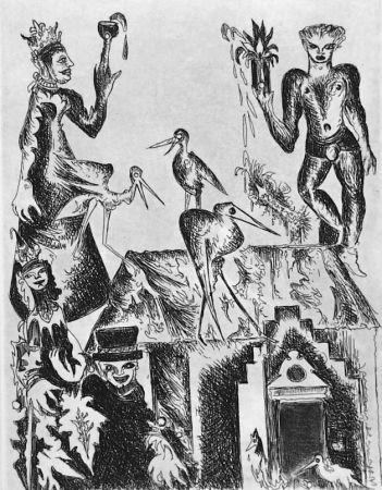 Acquaforte Haz - Le cicogne