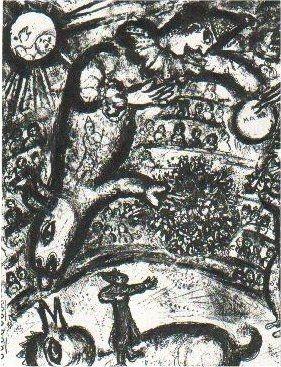 Litografia Chagall - Le Cirque, planche 37
