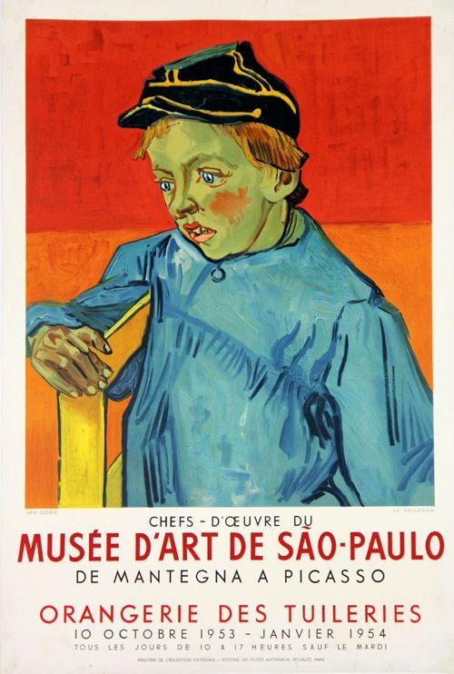 Litografia Van Gogh - Le Colegien, Musée D'Art de Sao Paulo