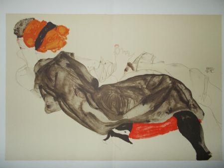 Litografia Schiele - Le couple
