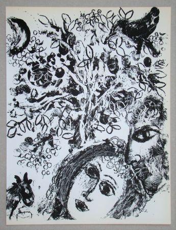 Litografia Chagall - Le Couple Devant L'Arbre