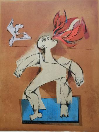 Litografia Briss - Le cracheur de feu