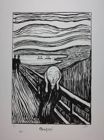 Litografia Munch - LE CRI / THE SCREAM / GESCHREI - 1895