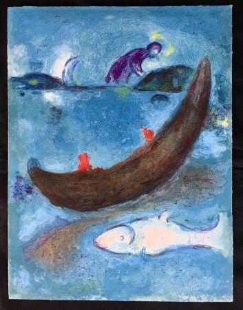 Litografia Chagall - Le Dauphin Mort Et Les Trois Cents Écus (From Daphnis Et Chloé. 1961)