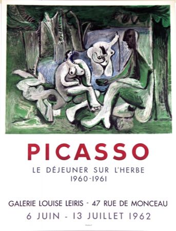 Litografia Picasso - Le Dejeuner Sur L'herbe  Galerie Louise Lieris