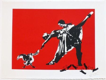 Serigrafia Blek Le Rat - Le Dernier Tango À Paris