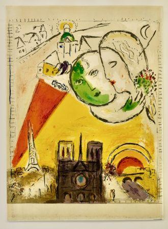 Litografia Chagall - Le dimanche